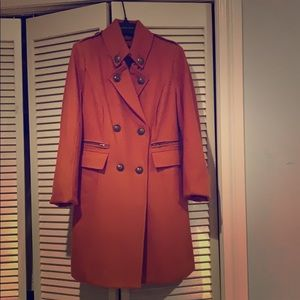 Black Rivet Women's Orange Peacoat